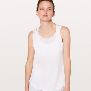 Lululemon Let It Slip Tank White